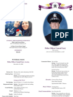 Program of services for fallen Chicago police Officer Conrad Gary