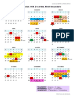CALENDARIO ESCOLAR NIVEL SECUNDARIO 2019