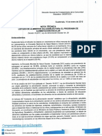 Nota Técnica Listado de Alimentos Saludables Para El Programa de Aliment..