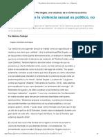 """Rita Segato - """"El Problema de La Violencia Sexual Es Político, No... _ Página12 16-12-18"""