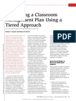 Classroom Management Using a Tiered Approach
