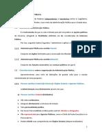 Organização Administrativa (Administração Pública Direta e Indireta)