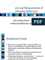 Assessment and Management of Challenging Behaviour
