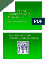 Zusammenfassung zum Proseminar Theorien und interdisziplinäre Ansätze