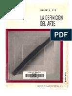 Textos Tema 1. Fotos de Paredes.definición de Arte. Umberto Eco. Intencionalidad