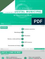 Índice de Información Presupuestal Municipal México 2018