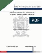 Las Posibles 7 Hipotesis en La Aprobación de La Lif Entre La Camara de Origen y La Revisora.