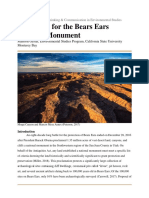 Bears Ears Policy Analysis