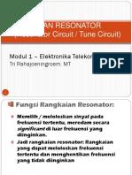 1. Rangkaian Resonator