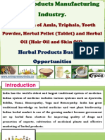 Herbal Products Manufacturing Industry
