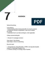 Agenda Wed Wk7