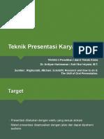 Teknik Presentasi Dan Poster