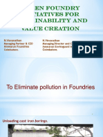 GREEN FOUNDRY INITIATIVES for Sustainability and Value Creation