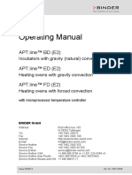 Manuale Istruzioni Binder BD ED FD