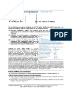 CRMD Initiation Report
