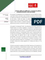 Nota de Prensa-Balance Políticas en Urbanismo