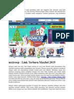 Mxtroop Link Terbaru Maxbet 2019