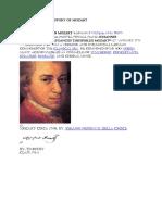 History of Mozart