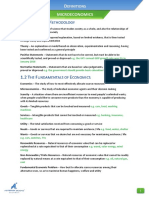 Microeconomics Definitions List (AQA)