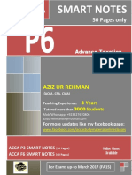SMART Notes ACCA P6 (40 Pages) FA15 Upto March 2017