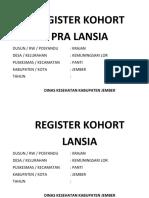 Tugas Bu Bidan Register Kohort