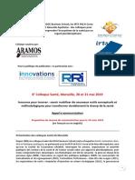 Colloque Sante Marseille 2019 Mai Appel a Communication