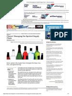 Cheers! Managing the Spirited Supply Chain - Inbound Logistics