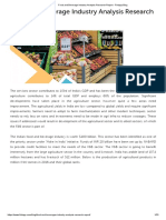 Food and Beverage Industry Analysis Research Report