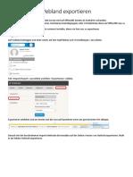 kontakte aus webland exportieren