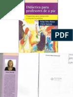 DIDÁCTICA PARA PROFESORES de a PIE Sanjurjo y Trillo Didactica Para Profesores de a Pie