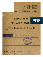 TM 11-615 Radio Sets SCR-609-A and -B and SCR-610-A and -B 1945