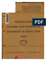 TM 11-2700 Installation of Radio and Interphone Equipment on Light Tank M3A3 1944
