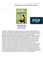 Metodo de Musculacion 110 Ejercicios Sin Aparatos 93437734