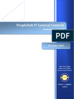 2009 Audit--PeopleSoft IT Controls 12-17-09