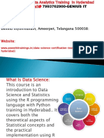 Datascience Training in Hyderabad