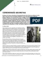Ceremonias Secretas a Portillo