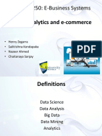 Presentation - Web Analytics and E-commerce