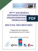 Programme JIFT2017