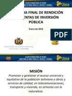 Audiencia Final de Rendición de Cuentas de Inversión Pública - Enero 2016 (1)