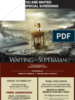 Waiting for Superman -- Invite for 10-22