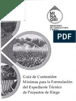 Guia de Contenidos Minimos Para La Foprmulacion Del Expediente Tecnico de Proyectos de Riego