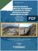 A6797 Evaluacion Geologica...Deslizamiento Tulpay Checras Lima