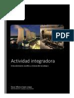 actividad integradora  Descubrimiento cientifico y desarrollo tecnologico