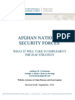 CSIS - Afghan National Security Forces - What It Will Take to Implement the ISAF Strategy