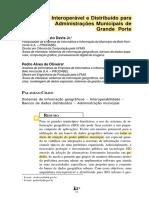 SIG Interoperável e Distribuído para Administrações Municipais de Grande Porte