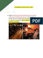 Zonas Vulnerables Críticas en El Perú