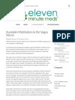 Kundalini Meditation & the Vagus Nerve - Eleven Minute Meds