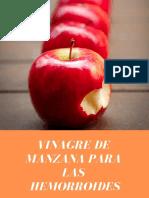 Sirve el Vinagre de manzana para las hemorroides?