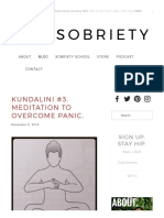 Kundalini #3. Meditation to Overcome Panic