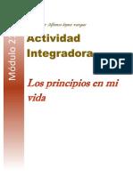 actividad integradora  Los principios en mi vida